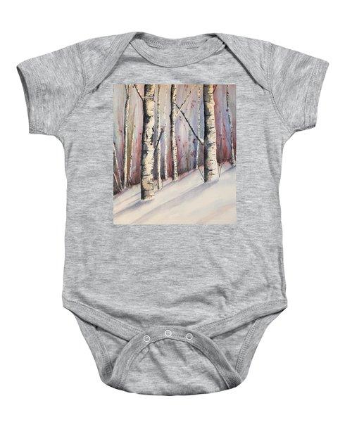 Snow In Birches Baby Onesie