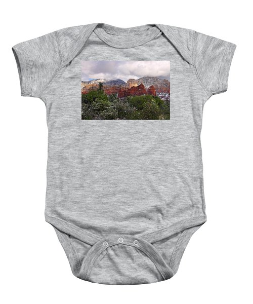 Snow In Heaven Baby Onesie