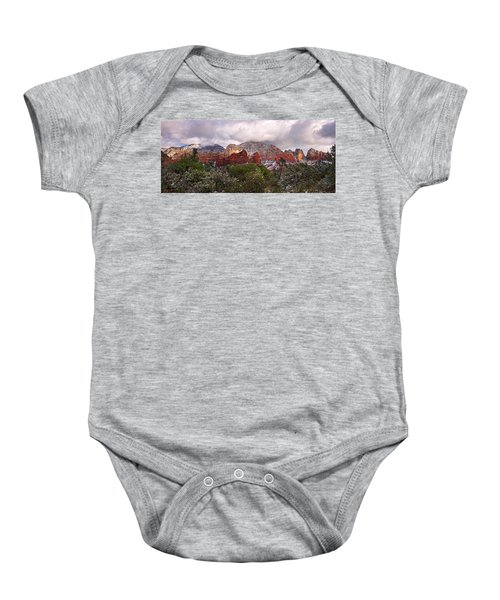 Snow In Heaven Panorama Baby Onesie