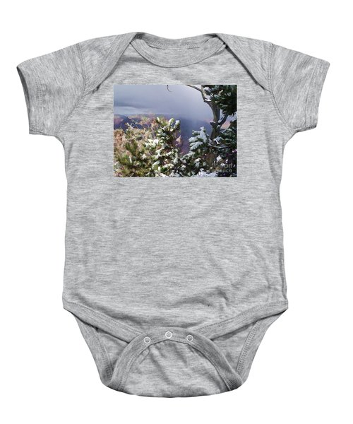 Snow In The Canyon Baby Onesie