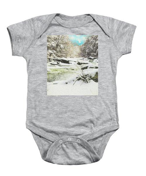 Snow On The Natchaug Baby Onesie