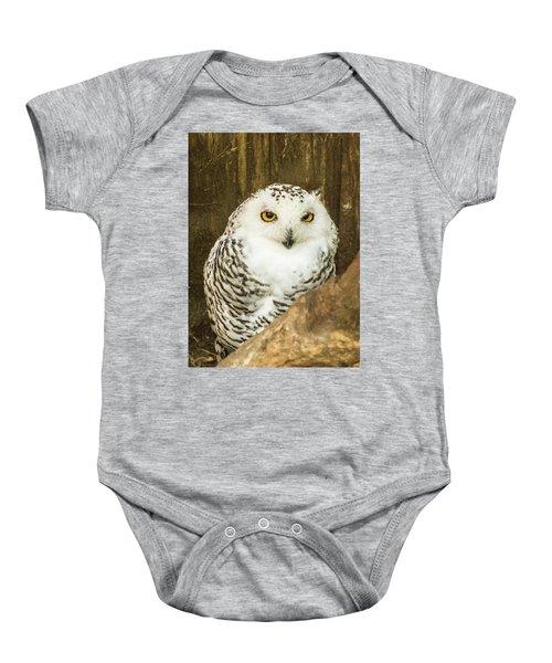 Snow Owl Baby Onesie