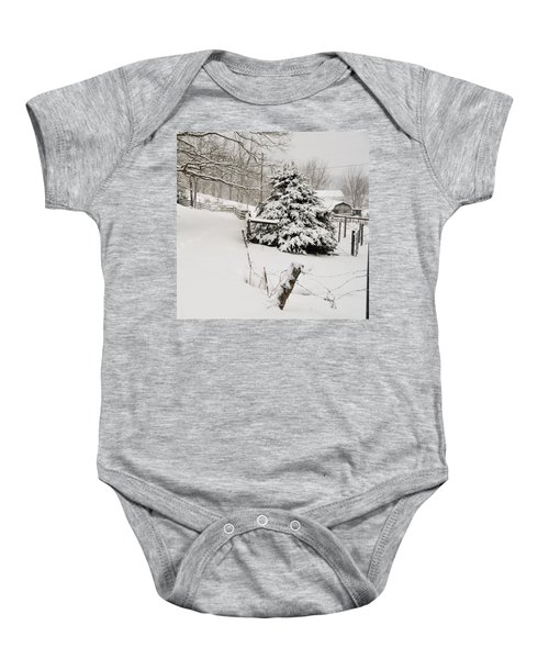 Snow Tree Baby Onesie