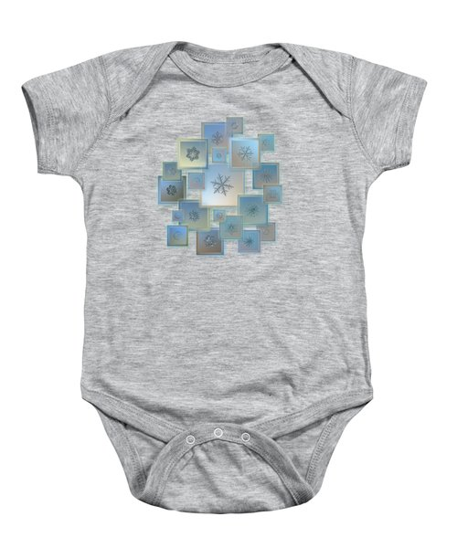 Snowflake Collage - Bright Crystals 2012-2014 Baby Onesie