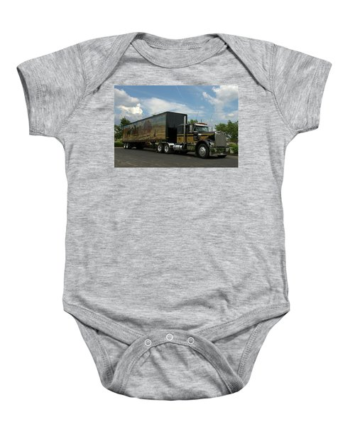 Snowmans Dream Replica Semi Trruck Baby Onesie
