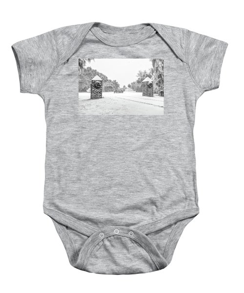 Snowy Gates Of Chisolm Island Baby Onesie