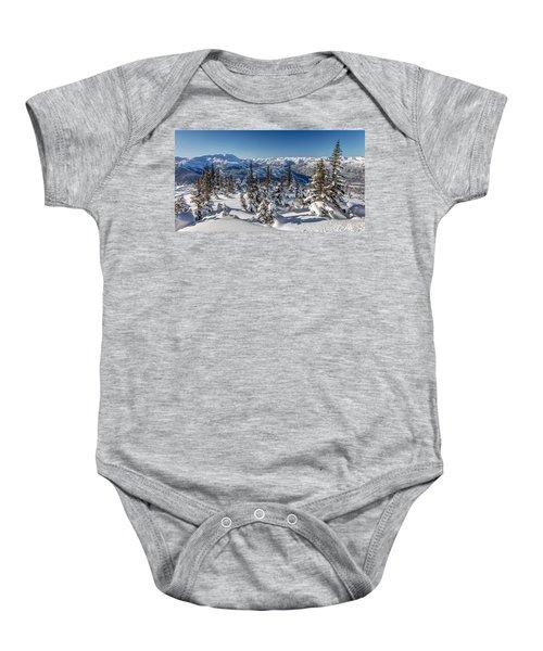 Snowy Whistler Mountain  Baby Onesie