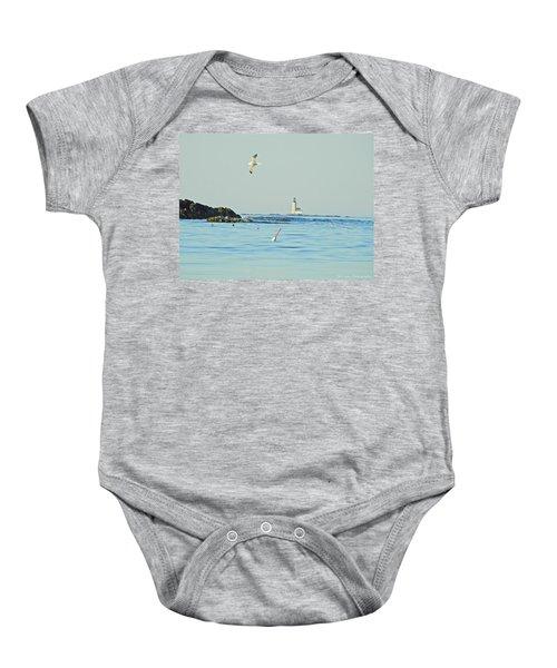 Soaring Seagull Baby Onesie