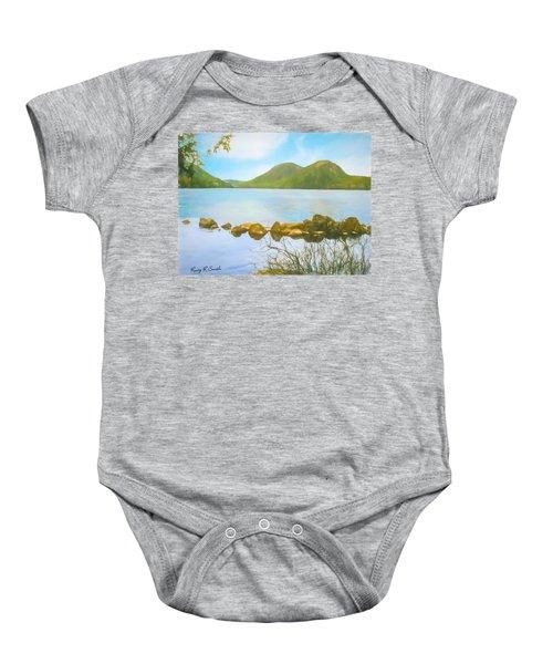 Soft Art Photograph Jordan Pond Acadia Nat. Park Maine Baby Onesie
