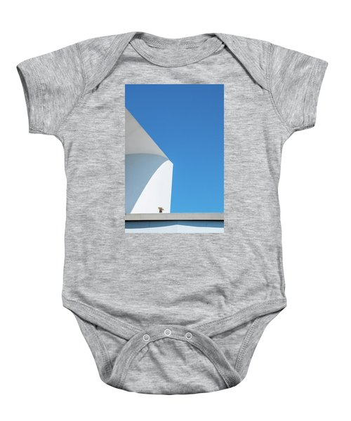 Baby Onesie featuring the photograph Soft Blue by Eric Lake