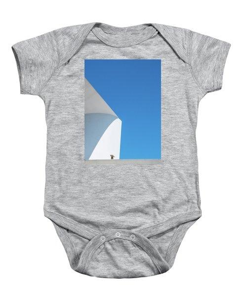 Soft Blue Baby Onesie