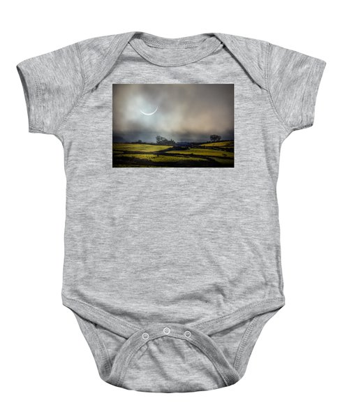 Solar Eclipse Over County Clare Countryside Baby Onesie