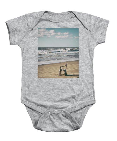Solo On The Beach Baby Onesie