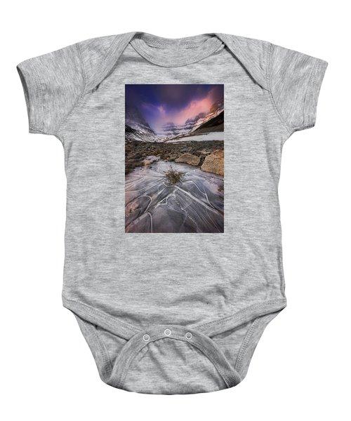 Somewhere In The Canadian Rockies Baby Onesie