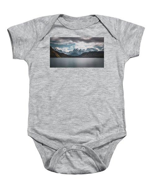 Somewhere Over The Mountain Range Baby Onesie