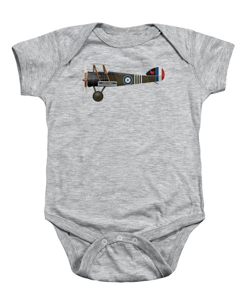 Sopwith Camel - B6313 June 1918 - Side Profile View Baby Onesie by Ed Jackson