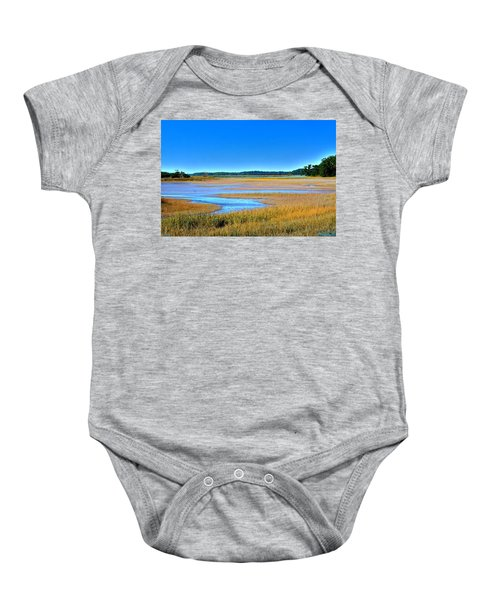 South Carolina Lowcountry H D R Baby Onesie