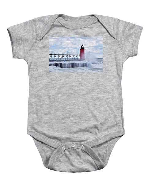 South Haven Lighthouse Baby Onesie