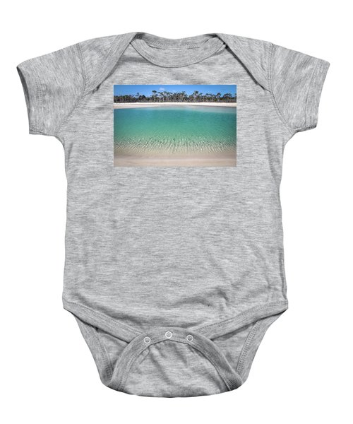 Sparkling Beach Lagoon On Deserted Beach Baby Onesie