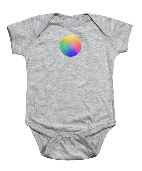 Spectrum Bomb Fruity Fresh Hdr Rainbow Colorful Experimental Pattern Baby Onesie