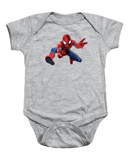 Spider Man Splash Super Hero Series Baby Onesie by Movie Poster Prints