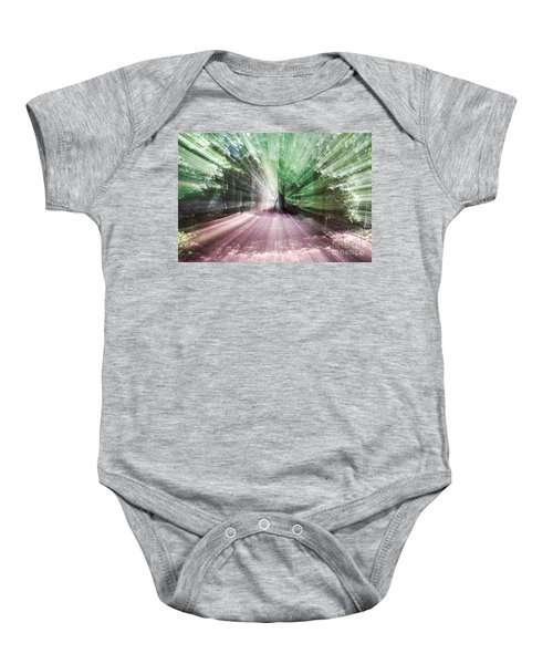Spinning The Trail Baby Onesie