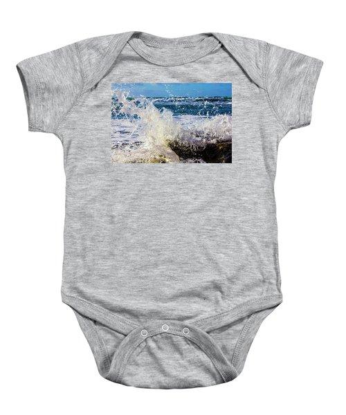 Wave Crash And Splash Baby Onesie
