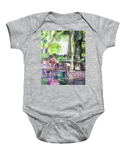 Splash In Battery Park Baby Onesie