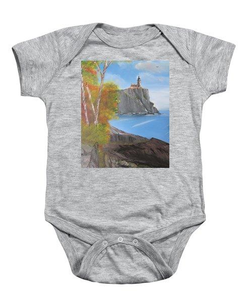 Split Rock Lighthouse Minnesota Baby Onesie