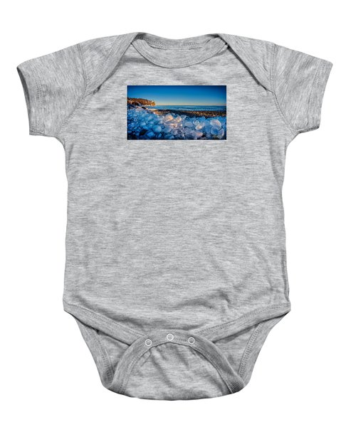 Split Rock Lighthouse With Ice Balls Baby Onesie