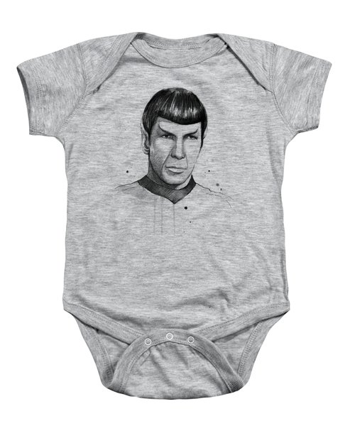 Spock Watercolor Portrait Baby Onesie