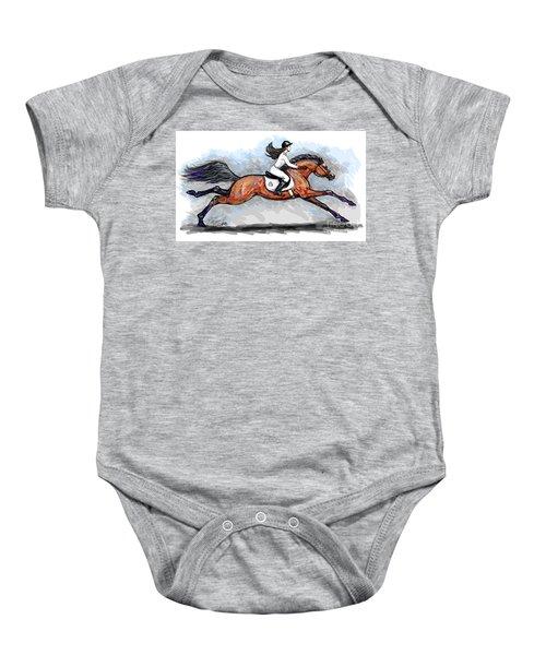 Sport Horse Rider Baby Onesie