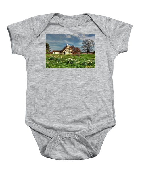 Spring At The Paine House Baby Onesie