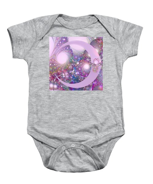 Spring Moon Bubble Fractal Baby Onesie