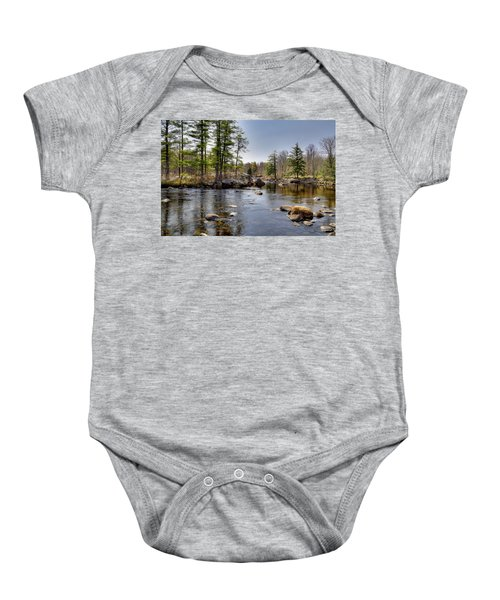 Baby Onesie featuring the photograph Spring Near Moose River Road by David Patterson