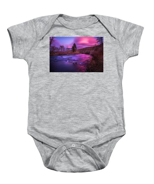 Spring Sunset Along The Truckee River Reno Nevada Baby Onesie