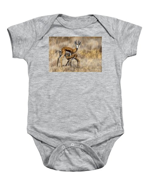 Springbok Mom And Calf Baby Onesie