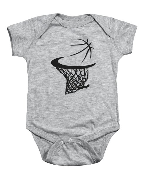 Spurs Basketball Hoop Baby Onesie
