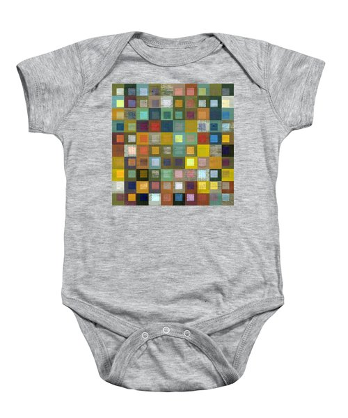 Baby Onesie featuring the digital art Squares In Squares Five by Michelle Calkins