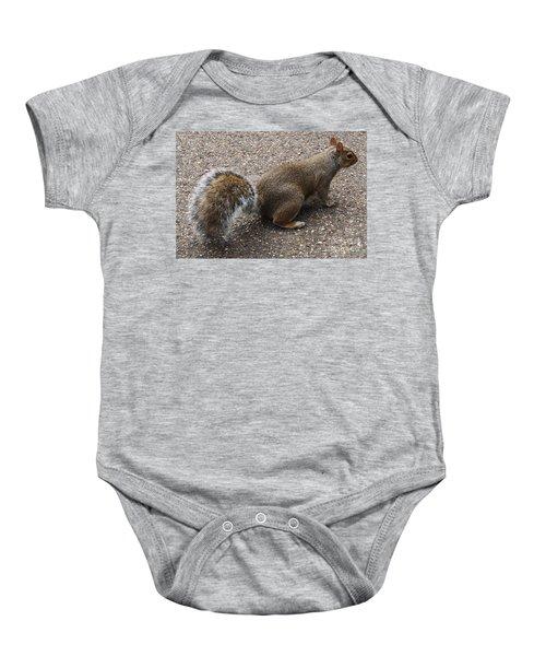 Squirrel Side Baby Onesie