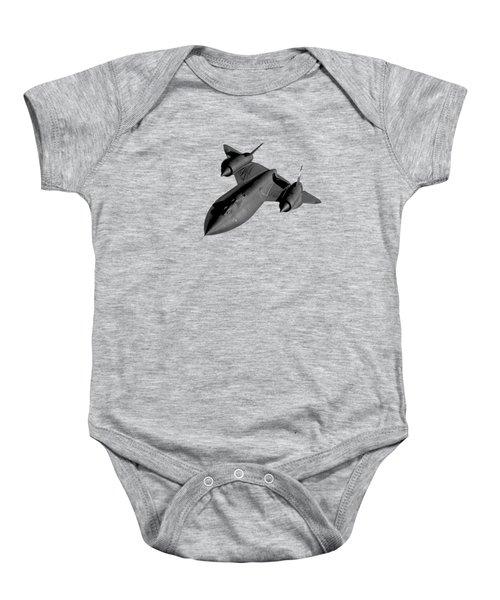Sr-71 Blackbird Flying Baby Onesie