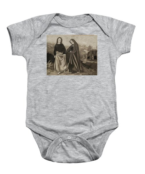 St. John And Blessed Mother At The Tomb Baby Onesie