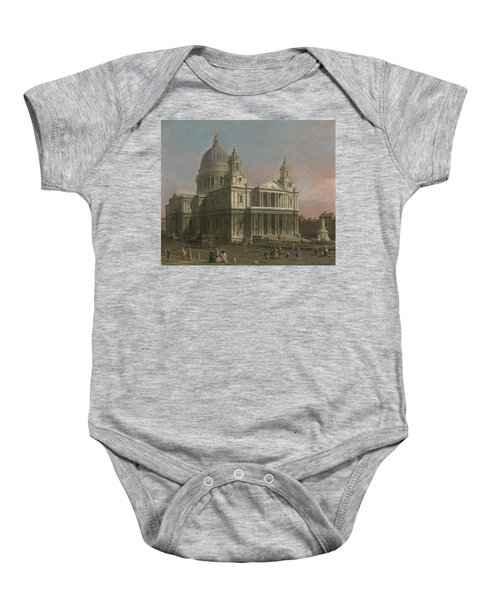 St. Paul's Cathedral Baby Onesie by Giovanni Antonio Canaletto