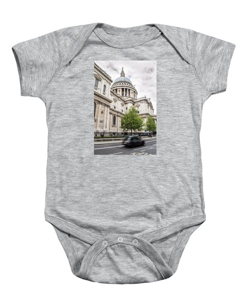 St Pauls Cathedral With Black Taxi Baby Onesie