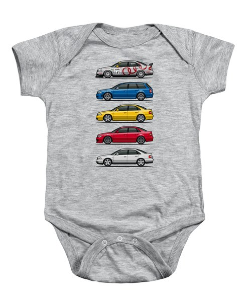 Stack Of Audi A4 B5 Type 8d Baby Onesie