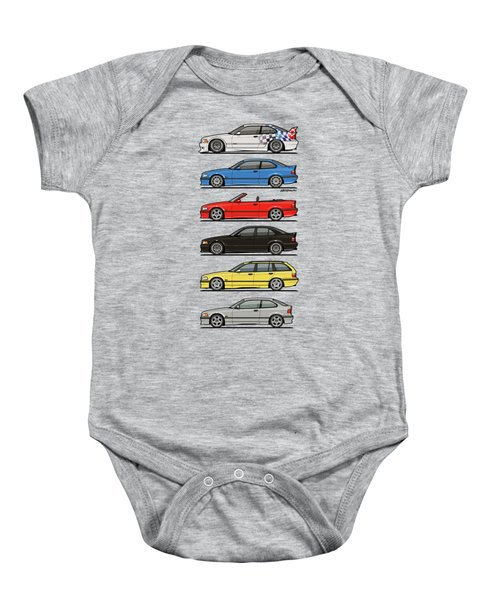 Stack Of E36 Variants Baby Onesie