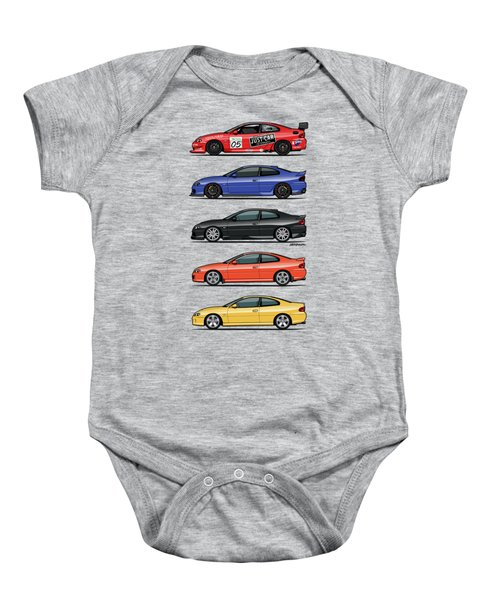 Stack Of Holden Monaros Baby Onesie