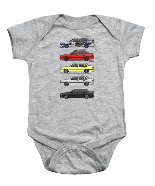 Stack Of Volvo 850r 854r T5 Turbo Saloon Sedans Baby Onesie