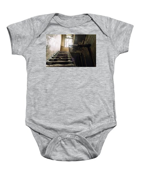 Stairs In Haunted House Baby Onesie