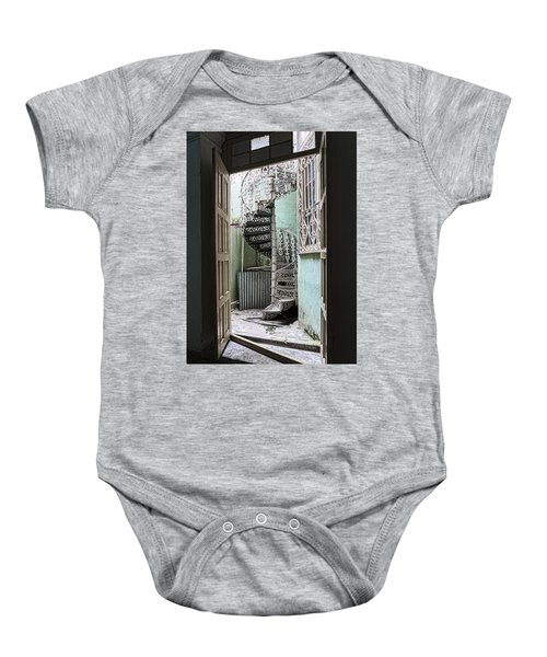 Stairway To Up Baby Onesie